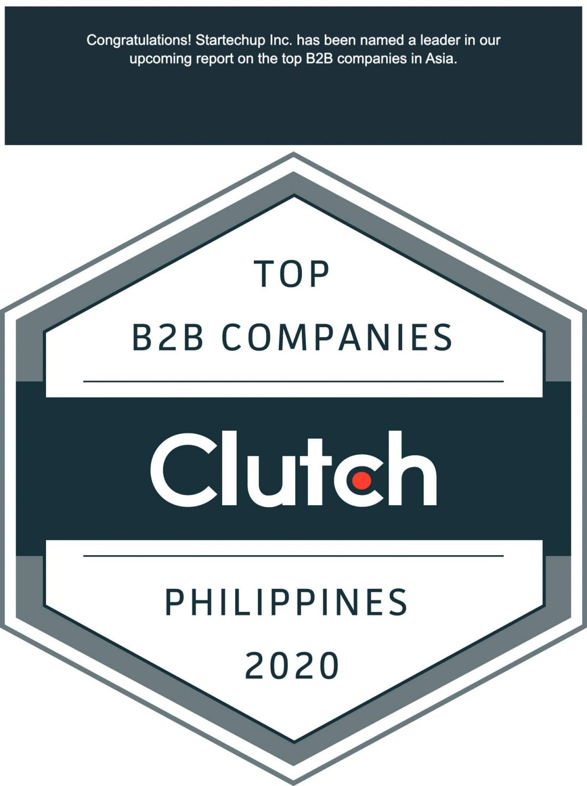 "Startechup Awarded as one of the ""Top B2B Companies"" in the Philippines in 2020"