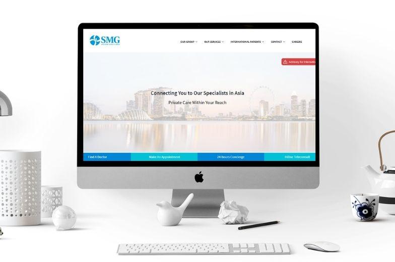 Nom du projet : Site web du groupe médical de Singapour