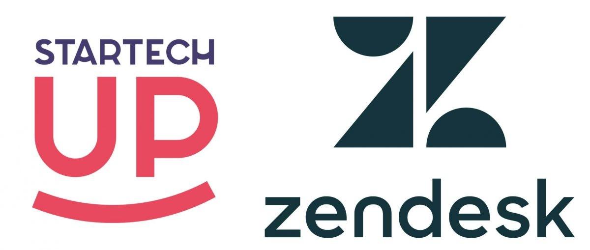 Logos principaux de Startechup et de Zendesk.